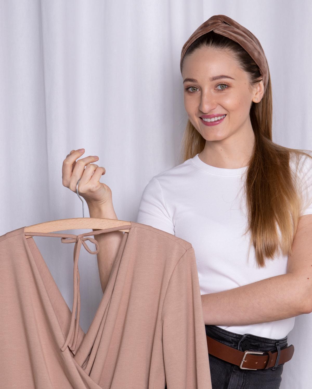 Kurs online szycia sukienki kopertowej Lisse