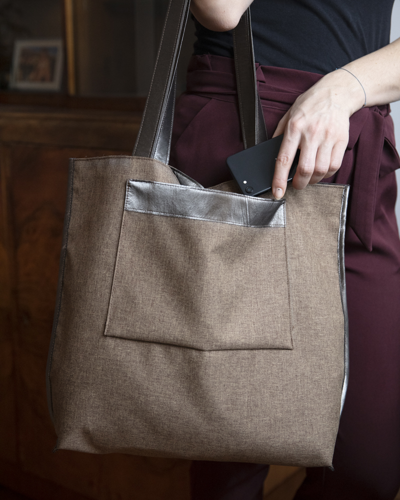 Kurs online szycia torebki shopperki