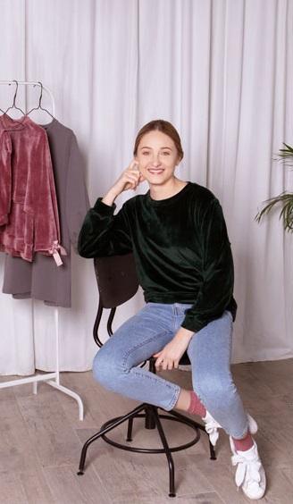 Kurs online szycia bluzy dresowej