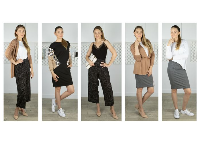 Wykrój na bluzkę / longsleeve z cyklu Garderoba Kapsułowa