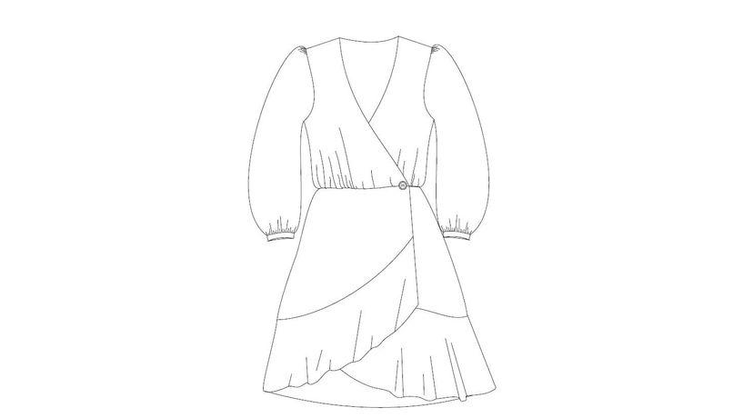 Kurs szycia sukienki kopertowej